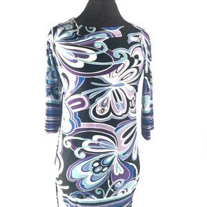 My Michelle Women's Plus Abstract Pattern Dress